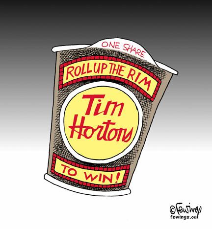Tim Hortos one share